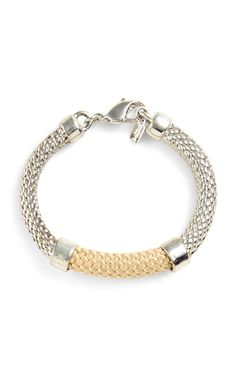 Orly Genger by Jaclyn Mayer  Taupe and Silver Crosby Bracelet  $145.00 #edition01