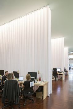 lagranja design create a leafy, light-filled office in barcelona in barcelona, studio lagranja have created an airy, plant-filled office space for start-up 'typeform', based on ideals of fresh air and free mobility. Bureau Design, Workspace Design, Office Workspace, Office Interior Design, Office Interiors, Contract Design, Office Designs, Commercial Architecture, Architecture Office