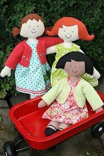 Kinder girls - doll sewing pattern #diy #crafts #wedding www.BlueRainbowDesign.com