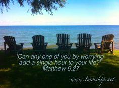 Stress Free Living @ www.1worship.net  Why worry?
