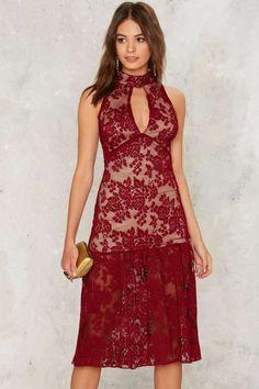 As a Keyhole Lace Dress - Dresses