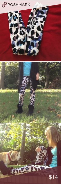 Leopard Leggings Cute leopard print leggings! Goes perfect with a skirt or a cardigan. Only worn once and in great condition! Stretchy and somewhat thick material so they aren't see through. PLEASE READ THE ENTIRE DESCRIPTION BEFORE PURCHASING! 🚫 NO TRADES. NO HOLDS. NO MERC@RI 🚫📩 I only respond to offers made through the offer button 📩  🙋🏼Questions? Just ask! Serious inquiries only please. EVERYTHING MUST GO!! 💁🏼 Xhilaration Pants Leggings