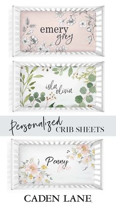 Personalize your baby's crib with crib sheets that feature their name! Perfect for those pictures you're sure to take when they're napping. Baby Crib Sheets, Baby Boy Bedding, Baby Cribs, Crib Bedding, Girl Room, Baby Room, Wishes For Baby, Nursery Design, Just Giving