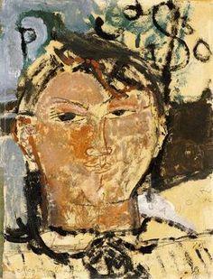 Amedeo Modigliani. Portrait of Pablo Picasso, 1915