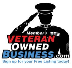 "Veteran Owned Business Member Badge (showing ""Proud Member"")."