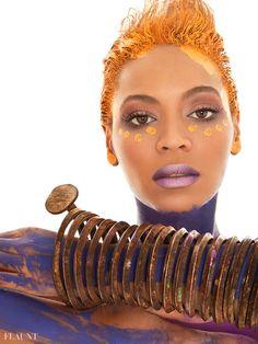 Beyonce nue et pailletée pour Flaunt Magazine