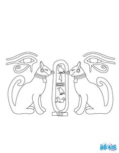 EGYPTIAN PAPYRUS Coloring Printables