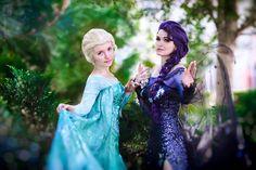 Elsa & Dark Elsa (Dark Elsa / Cosplay by Usagi-Tsukino-Krv @deviantART) #Frozen