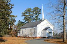 Sunshine Church, built in 1880, in Round Oak, Georgia. There are SO many cute little churches in Georgia.