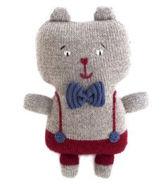 Plush Wool Teddy Bear | Fournier | Wool Baby Animals - Brimful Toys