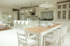 Annabel's House kitchen cladded walls and ceiling love love love