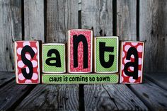 Items similar to Santa Claus Christmas wood primitive stacking block set gift winter country primitive seasonal home decor on Etsy Christmas Blocks, Christmas Wood, Christmas Signs, Christmas Projects, All Things Christmas, Winter Christmas, Christmas Holidays, Christmas Decorations, Christmas Ideas
