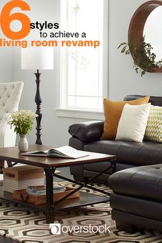 It's time to give your living room a refresh. Whether you're going for a full remodel or just looking to update your decor, this guide features living room ideas that will help you navigate some of the most popular interior design styles. Comfortable seating, tablespace, lighting, and decor combine to create a welcoming place to lounge. Shop living room decorating essentials and more at Overstock.com.