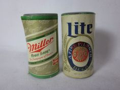 Vintage MILLER LITE and HIGH LIFE Mini Plastic Beer Cans