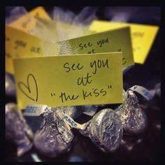 "Bridal Shower Favors ~ ""The Kiss"" Hershey Chocolates"