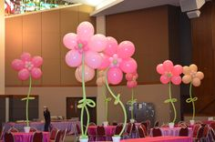 Flower Balloons by Ideal Party Decorators - www.idealpartydecorators.com