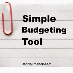 Simple Budgeting Tool. I know this probably sounds backwards and maybe a tad harsh. I understand in today's society it is shoved down our throats and widely encouraged to buy bigger and better than everyone else around you.   However, who is there to help with the spiraling out of control debt problems?
