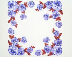 floral vintage print