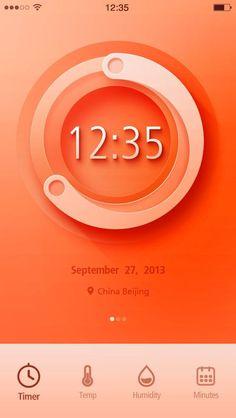 Inspiration Mobile #17 : Horloge, date & chronomètre | Blog du Webdesign