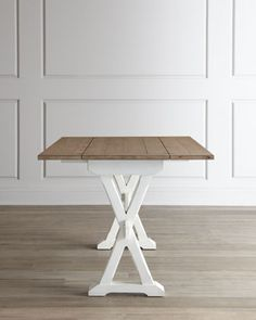 Harper Drop-Leaf Table at Horchow for craft work space, or push against a wall with leaves down as a console