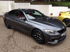 BMW 4 Mineral Gray, red leather, black grill