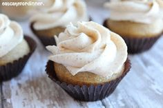 Eat Cake For Dinner: Vanilla Chai Cupcakes with Chai Spiced Buttercream