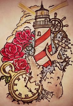 lighthouse tattoos | Lighthouse ^^ by tattoo-love-forever