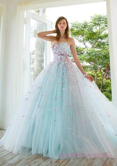 Long Blue Princess Dress