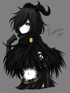 Archer of Despair [Reapertale Colored ver.] by CNeko-chan on DeviantArt Character Inspiration, Character Art, Character Design, Dark Drawings, Gothic Anime, Fandom Crossover, Girls Anime, Estilo Anime, Anime Oc