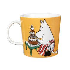 Brand new for 2014! Moominmamma is a fictional character in Tove Jansson's Moomins stories where she is married to Moominpappa and together they are parents to the Moomintroll. Moominmamma always wears her bag witch has become her trademark witch you also can see on this great mug. There are also...