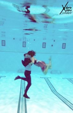 underwater engagement shoot