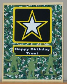 Birthday card for an Army themed party.