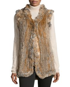 Rabbit Fur Vest, Natural by Love Token at Neiman Marcus Last Call.