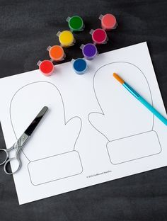 Winter is the perfect season for mitten crafts! Toddlers, preschoolers, and kindergartners will enjoy using our printable template, washable paint, and basic craft supplies to create a fun and colorful mitten craft at home or school. Winter Crafts For Toddlers, Winter Kids, Toddler Crafts, Crafts Toddlers, Craft Kids, Mittens Template, Mittens Pattern, Preschool Art Activities, Preschool Activities