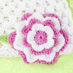 Multi Layered Flower Crochet Pattern via My Favourite Things