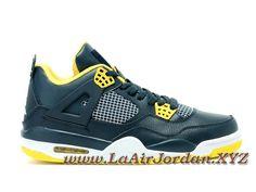 hot sales 3ba13 a76db Air Jordan 4 Retro Chaussures Jordan Basket Pour Homme Vert Jaune