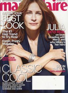 Julia Roberts Marie Claire Magazine Dec 2013 Britt Robertson Office Gift Giving