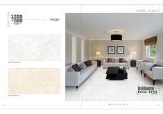 Millennium Tiles 600x1200mm (24x48) Digital Brilliante Recta PGVT Porcelain Floor Tiles Single Series.  - Acero Bianco  - Bellini Beige