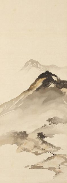 Odake Chikuha, 1878-1936 | Mountain Landscape with Bridge.  Oni Zazen Collection