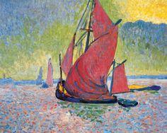 ART & ARTISTS: André Derain- The Red Sails, 1906