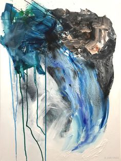 """Urban Blue Waterfall"" $2,500 Artlyowl.com"