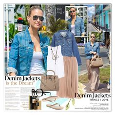 """""""Demonstrate Your Denim Jacket Style"""" by barbarela11 ❤ liked on Polyvore featuring Hudson Jeans, Chloé, Velvet, Forever 21, Havaianas, Michael Kors, Chanel, Erika Cavallini Semi-Couture, Gucci and denimjacket"""