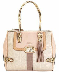 GUESS Handbag, Attis Fancy Satchel - Guess - Handbags & Accessories - Macy's