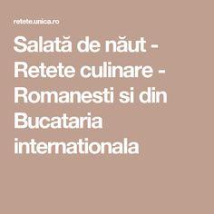 Salată de năut - Retete culinare - Romanesti si din Bucataria internationala