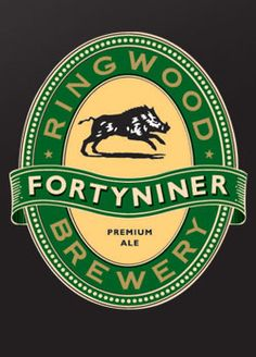 RINGWOOD BREWERY'S FORTYNINER - light, fresh hop bouquet. Rounded malt in the mouth with strong hop balance, deep bitter-sweet finish. Golden full-bodied malty beer, silver medal winner at the '96 International Beer Competition at Burton-on-Trent.