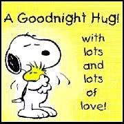 Snoopy & Woodstock - A good night hug with lots and lots of love.