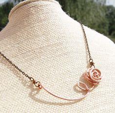 Copper wire Rose by KarismaByKara Jewelry