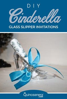 Miss America, Quinceanera.com's Ambassador, shows you how to make glass slipper invitations for your quince.