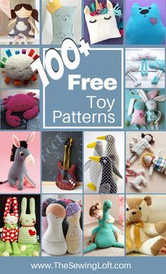 I don't know about you, but I love sewing for Easter. Here's not one bunny sewing pattern, but 20 free sewing patterns Sewing Stuffed Animals, Stuffed Toys Patterns, Stuffed Animal Diy, Sewing Toys, Sewing Crafts, Crafts To Sew, Fleece Crafts, Sewing Hacks, Sewing Tutorials