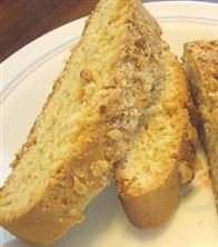 """Homemade Italian biscotti (Allrecipes). """"This is a simple, no frills biscotti. It's quick, easy and one of my favorite Italian cookie recipes."""" Lots of great reviews."""